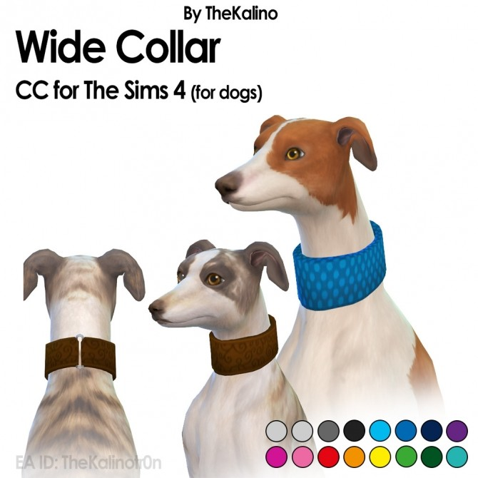 Sims 4 Wide Collar for dogs at Kalino