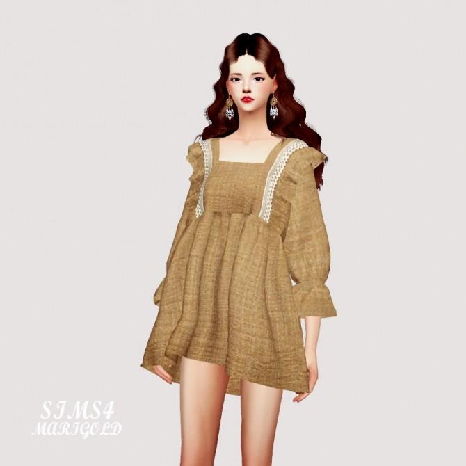 BabyDoll Mini Dress Blouse at Marigold image 1721 670x670 Sims 4 Updates