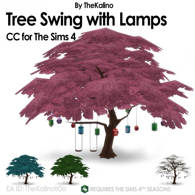 Tree Swing with lamps at Kalino image 173 670x670 Sims 4 Updates