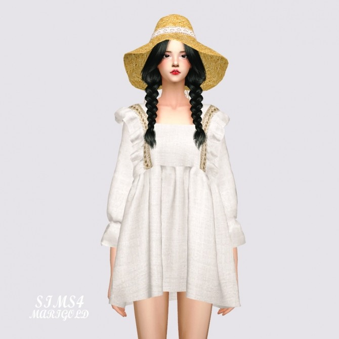 BabyDoll Mini Dress Blouse at Marigold image 1731 670x670 Sims 4 Updates