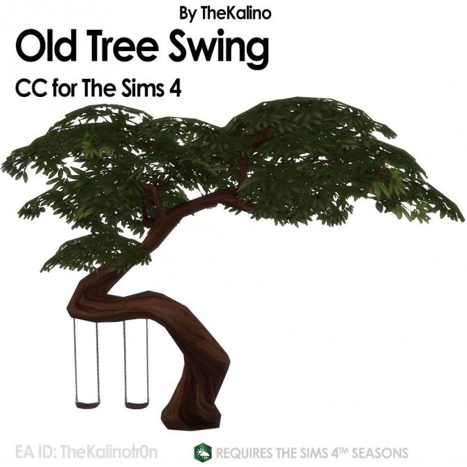 Sims 4 Old Tree Swing at Kalino