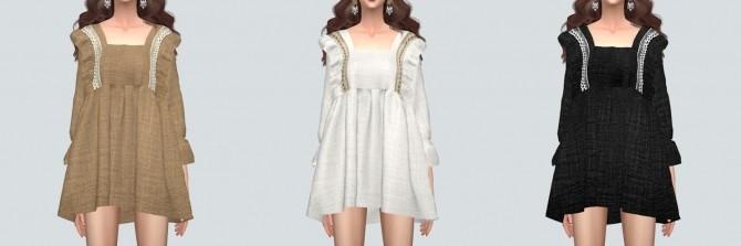BabyDoll Mini Dress Blouse at Marigold image 1741 670x223 Sims 4 Updates