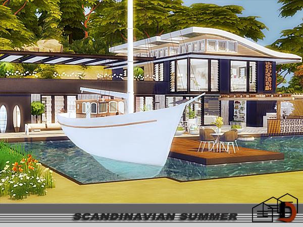 Sims 4 Scandinavian summer house by Danuta720 at TSR