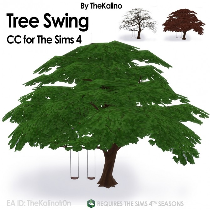 Sims 4 Tree Swing at Kalino