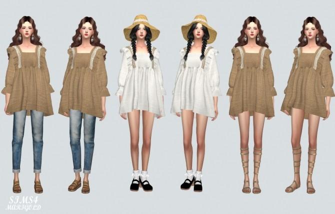 BabyDoll Mini Dress Blouse at Marigold image 1751 670x428 Sims 4 Updates