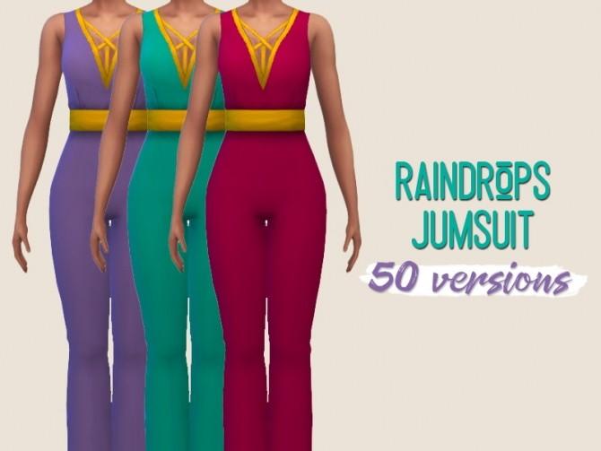 Raindrops jumpsuit at Midnightskysims image 176 670x503 Sims 4 Updates