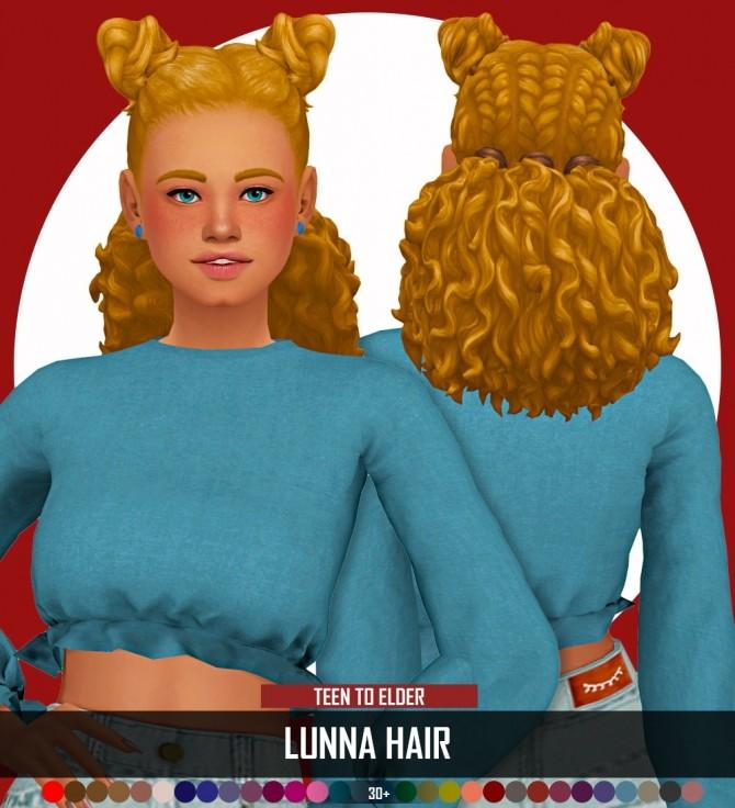 LUNNA HAIR at REDHEADSIMS image 178 670x736 Sims 4 Updates