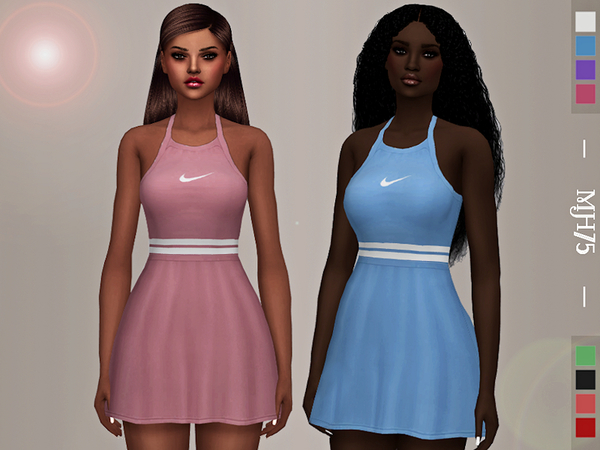 Sims 4 Madison Tennis Dress by Margeh 75 at TSR