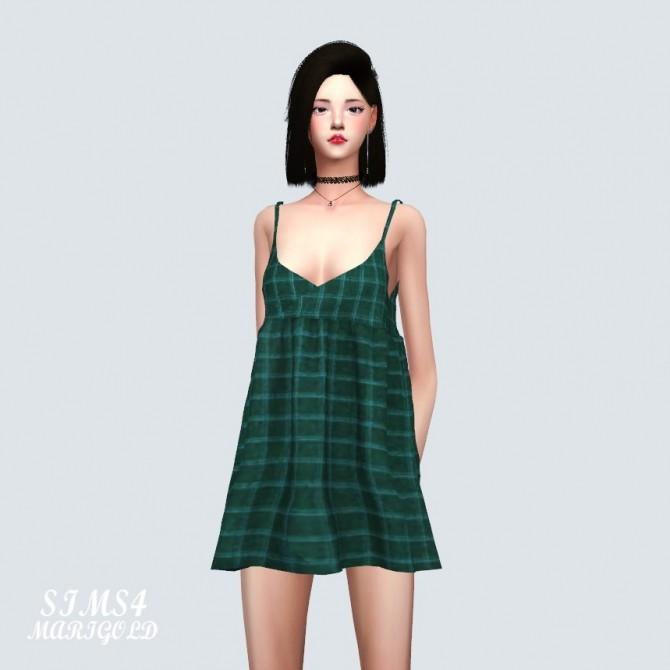 Sims 4 Bustier Mini Dress at Marigold