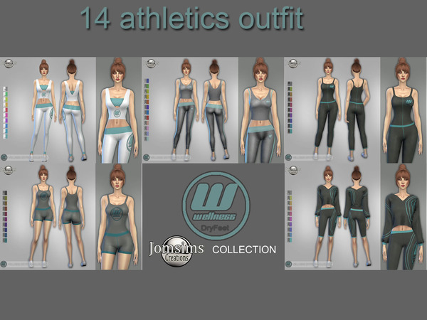 Sims 4 Wellness Dry feet sport top and leggings by jomsims at TSR