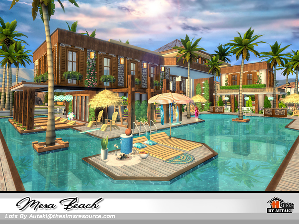 Mesa Beach house by autaki at TSR image 1936 Sims 4 Updates