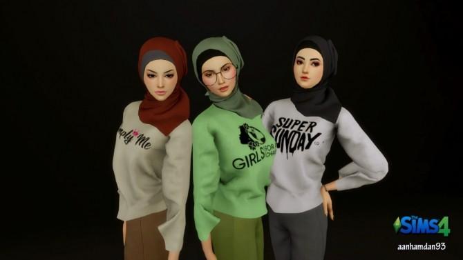 Hijab Model050 & Simply Girls SET at Aan Hamdan Simmer93 image 1943 670x377 Sims 4 Updates