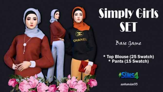 Hijab Model050 & Simply Girls SET at Aan Hamdan Simmer93 image 1953 670x377 Sims 4 Updates