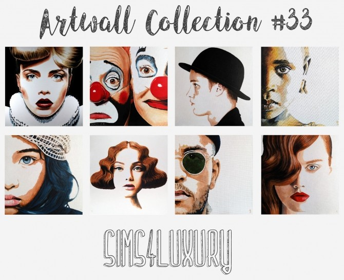 Artwall Collection #33 at Sims4 Luxury image 1954 670x545 Sims 4 Updates