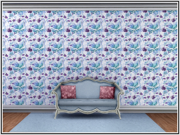 Apple Blossom Walls by marcorse at TSR image 2 Sims 4 Updates