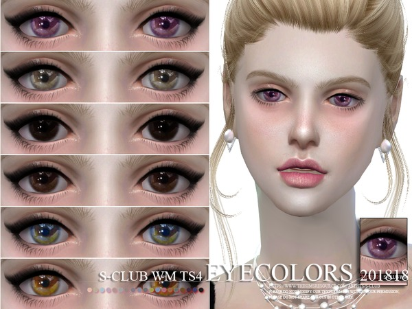 Sims 4 Eyecolors 201818 by S Club WM at TSR