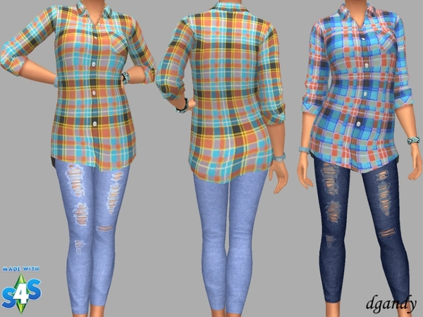 Sims 4 Shirt and Jeggings by dgandy at TSR