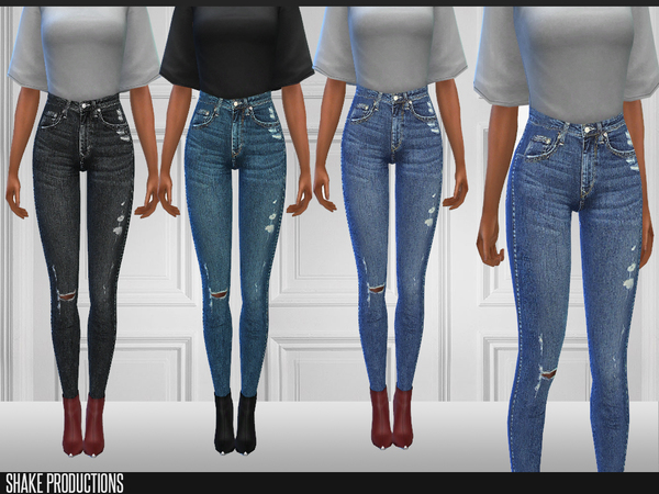 Sims 4 169 Jeans by ShakeProductions at TSR