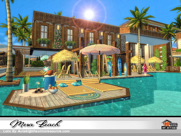 Mesa Beach house by autaki at TSR image 2036 Sims 4 Updates