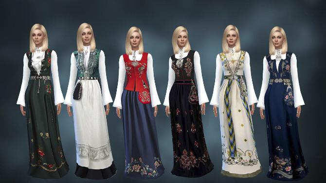Norwegian Bunad at Alial Sim image 2083 670x377 Sims 4 Updates