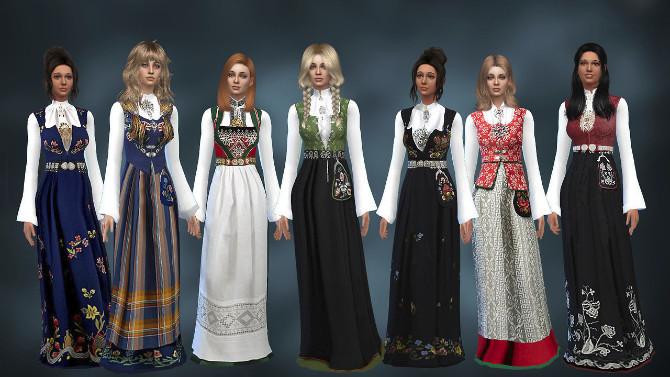 Sims 4 Norwegian Bunad at Alial Sim