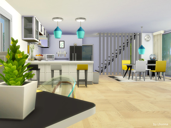 Sims 4 The Air modern coast house by Lhonna at TSR