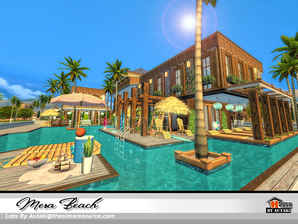 Mesa Beach house by autaki at TSR image 2128 Sims 4 Updates