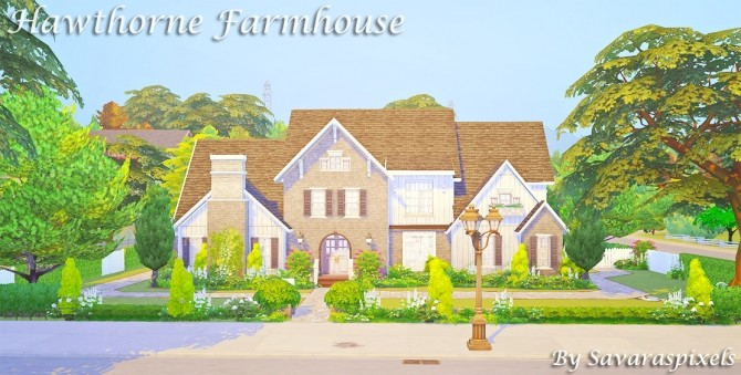 Hawthorne Farmhouse at Savara's Pixels image 2151 670x339 Sims 4 Updates