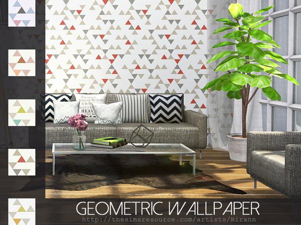 Geometric Wallpaper by Rirann at TSR image 221 Sims 4 Updates