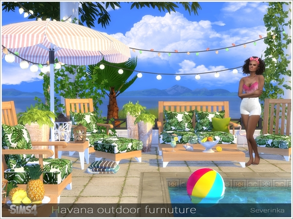 Havana outdoor furniture by Severinka at TSR image 2220 Sims 4 Updates