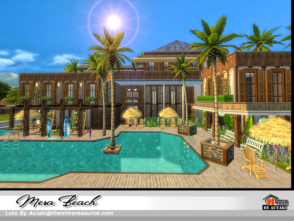 Mesa Beach house by autaki at TSR image 2222 Sims 4 Updates