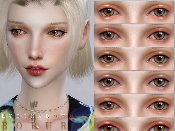 Sims 4 Eyeshadow 30 by Bobur3 at TSR