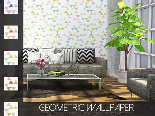 Geometric Wallpaper by Rirann at TSR image 231 Sims 4 Updates