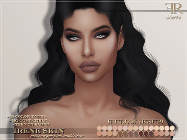 Sims 4 Irene Skin by FashionRoyaltySims at TSR
