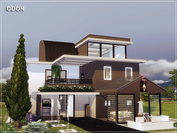 ODON modern home by marychabb at TSR image 2317 Sims 4 Updates
