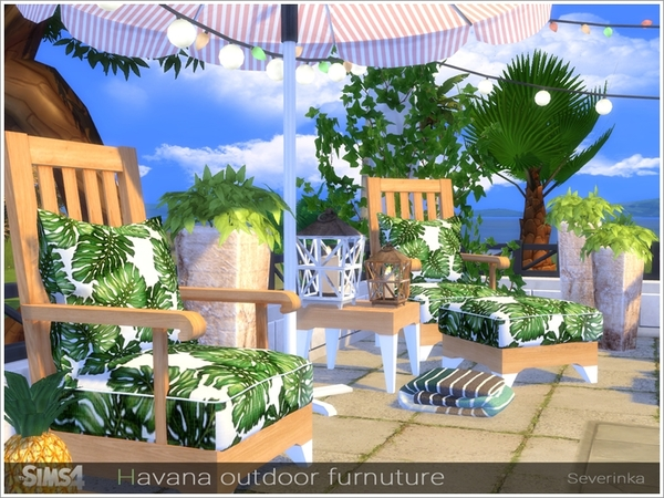 Havana outdoor furniture by Severinka at TSR image 2319 Sims 4 Updates