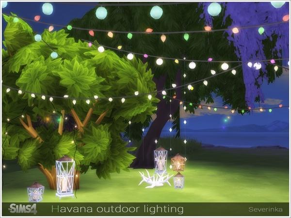 Sims 4 Havana outdoor lighting by Severinka at TSR