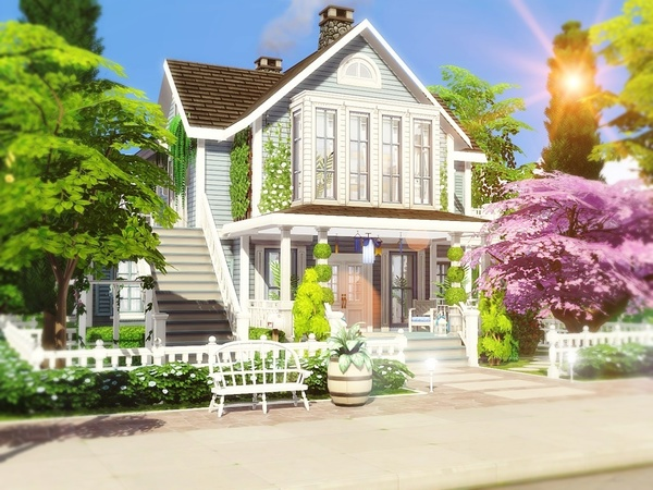 Classic Beauty 2 house by MychQQQ at TSR image 241 Sims 4 Updates