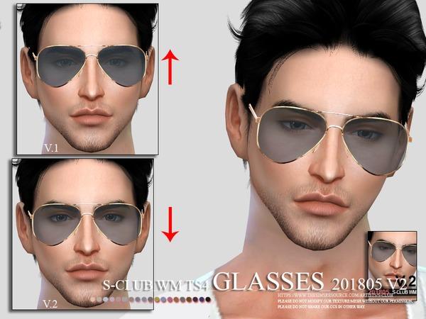 Glasses FM 201805 V2 by S Club WM at TSR image 2413 Sims 4 Updates