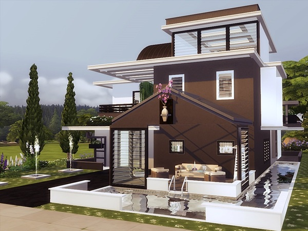 ODON modern home by marychabb at TSR image 2417 Sims 4 Updates