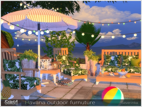 Havana outdoor furniture by Severinka at TSR image 2419 Sims 4 Updates