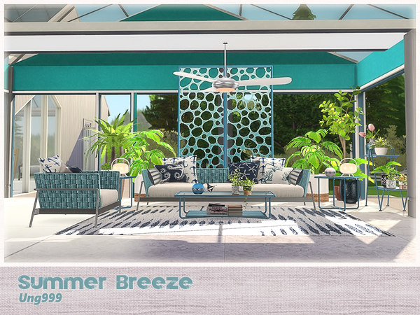Summer Breeze livingroom by ung999 at TSR image 2420 Sims 4 Updates