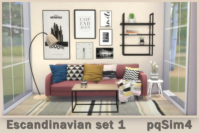Sims 4 Scandinavian Set 1 at pqSims4