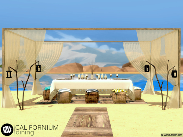 Californium Outdoor Dining by wondymoon at TSR image 2422 Sims 4 Updates