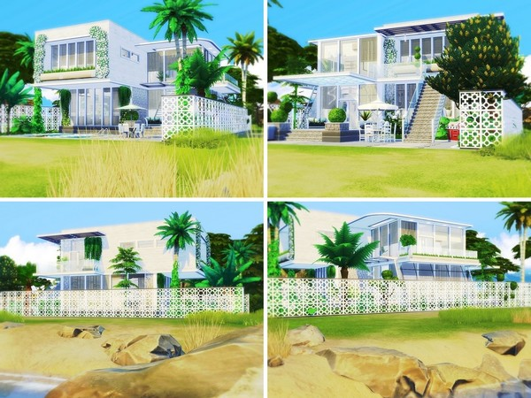 Sims 4 Miami Beach House by MychQQQ at TSR