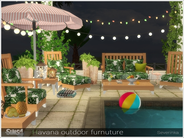 Havana outdoor furniture by Severinka at TSR image 2519 Sims 4 Updates
