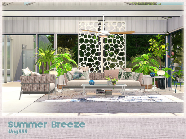Summer Breeze livingroom by ung999 at TSR image 2520 Sims 4 Updates