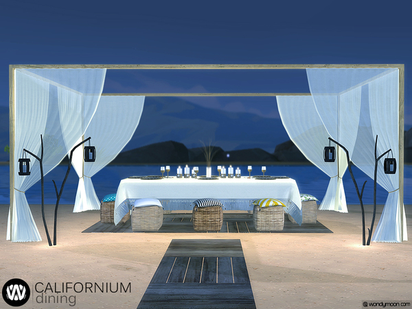 Sims 4 Californium Outdoor Dining by wondymoon at TSR