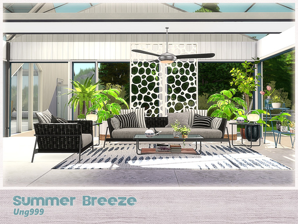 Summer Breeze livingroom by ung999 at TSR image 2620 Sims 4 Updates