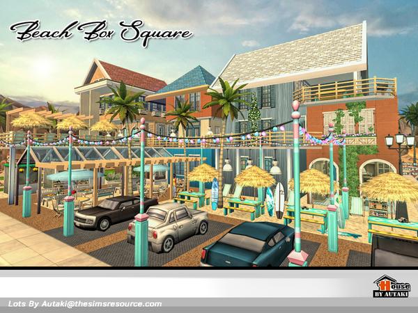 Beach Box Square by autaki at TSR image 2623 Sims 4 Updates